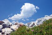 Rock slide against blue sky — Stock Photo