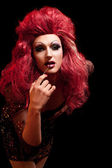 Drag-queen. uomo vestito da donna. — Foto Stock