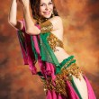 Stock Photo: Beautiful exotic belly dancer woman
