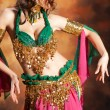 Beautiful exotic belly dancer woman — Stock Photo #6422933