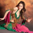 Beautiful exotic belly dancer woman — Stock Photo
