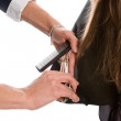 Hairdresser cutting the hair — Stock Photo #6424768