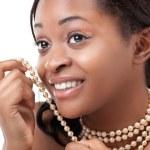 hermosa joven negra — Foto de Stock   #6432076