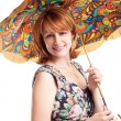 Beautiful Woman with umbrella. — Stock Photo