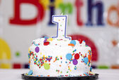 Birthday cake — Stock Photo