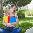 Outdoor studying — Stockfoto