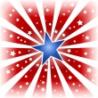 Star burst in USA colors — Stock Vector