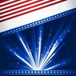 Stylised USA flag — Stock Vector
