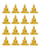 Beautiful Buddha image in Thailand, a white background — Stock Photo