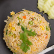 Royalty-Free Stock Photo: Crab fried rice with fried egg