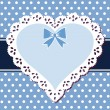 Lace blue heart — Stock Vector