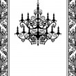 Stock Vector: Vintage chandelier