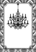 Vintage chandelier — Stock Vector