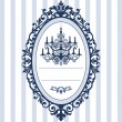 Wedding card with vintage chandelier — Stockvector #5447422