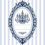 与老式吊灯婚礼卡 — 图库矢量图片
