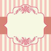Vintage roses pink frame — Stock Vector