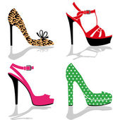 Women shoes collection — Stock Vector
