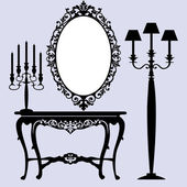 Antique furniture — Stock Vector