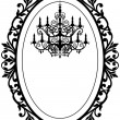 Vintage frame with chandelier — Stockvector #5498426