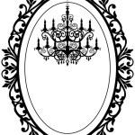 Vintage frame met kroonluchter — Stockvector