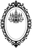 Vintage frame with chandelier — Vector de stock