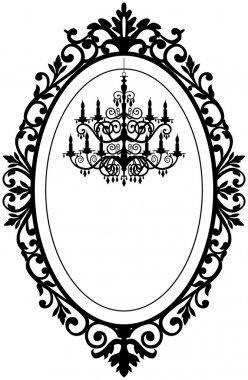 Vintage frame with chandelier