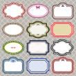 Set of retro styled frames - Stock Vector