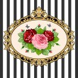 Royalty-Free Stock Vector Image: Vintage rose bouquet frame