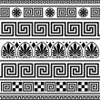 图库矢量图片: Set of vector greek ornaments