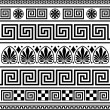 Stock vektor: Set of vector greek ornaments