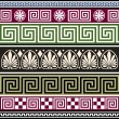 Stock Vector: Set of antique greek ornaments