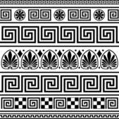 Set of vector greek ornaments — Stock Vector