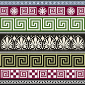 Set of antique greek ornaments — Stock Vector