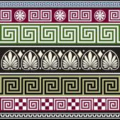 Set of antique greek ornaments — Stock Vector