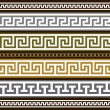 Set of vector greek borders — Stock Vector
