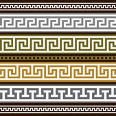 Set of vector greek borders — Stock Vector