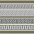 Set of greek geometric borders — Stock Vector