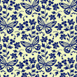 Vector butterflies seamless pattern — Stock Vector