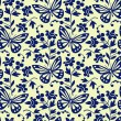 Vector butterflies seamless pattern — Stock Vector #5964777