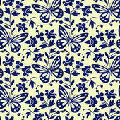 Vector butterflies seamless pattern — Stock Vector
