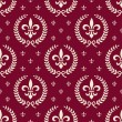 Stock Vector: Red royal seamless textile pattern