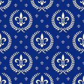 Blue royal seamless textile pattern — Stock Vector