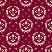 Red royal seamless textile pattern — Stock Vector