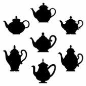 Set of teapots — Stock Vector