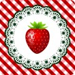 Strawberry frame — Stock Vector #6139082