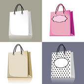 Set of shopping bags — Vettoriale Stock