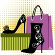 Shoes shopping — Stock Vector