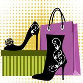 Alışveriş ayakkabı — Stok Vektör