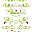 Tulip spring borders - Stock Vector