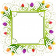 Tulips spring frame - Stock Vector